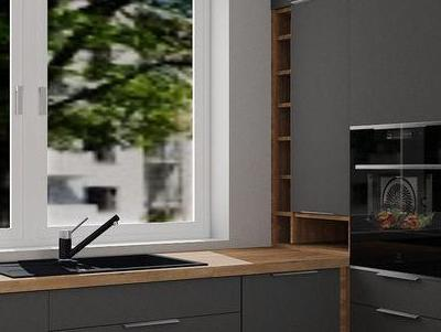 zabudowa kuchenna - projekty 2